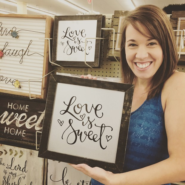 Sam Allen Creates Love is Sweet for Hobby Lobby