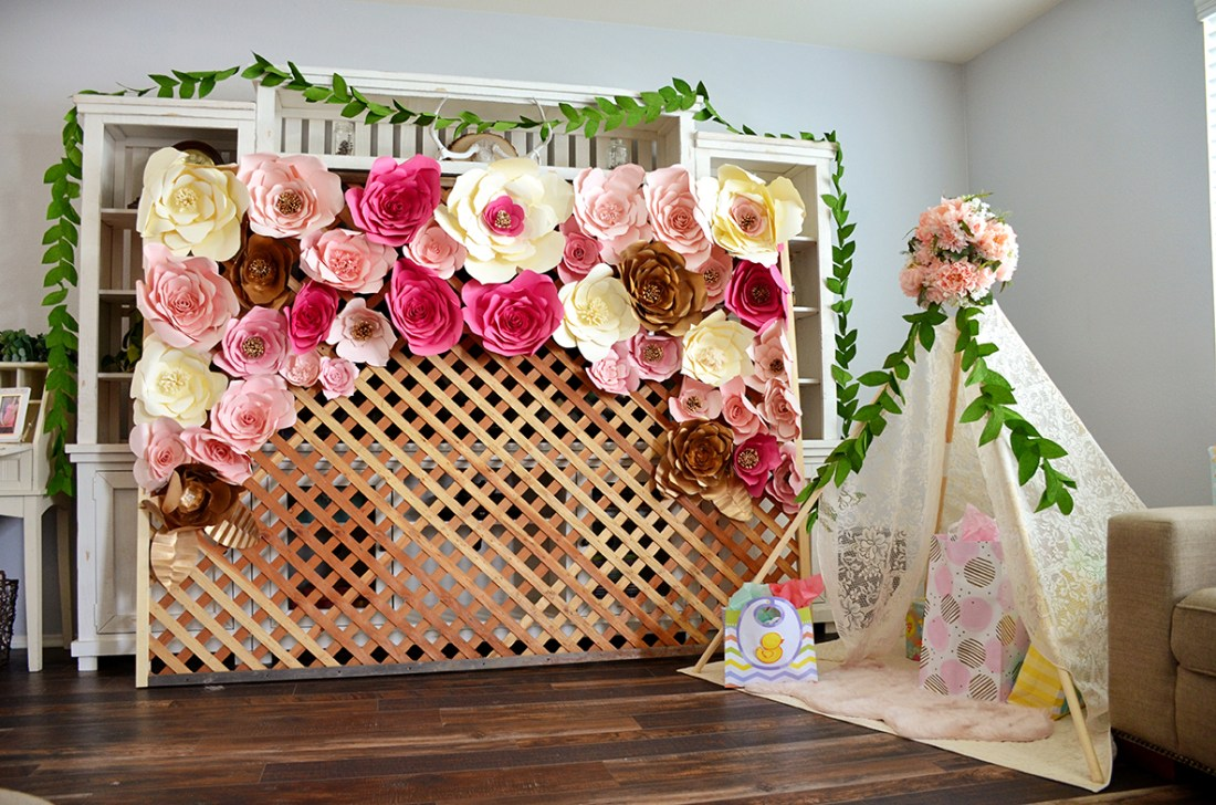 Shabby Chic Tribal Baby Shower Backdrop and Gift Tepee