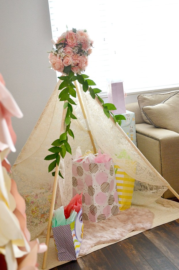 Shabby Chic Tribal Baby Shower Gift Tepee