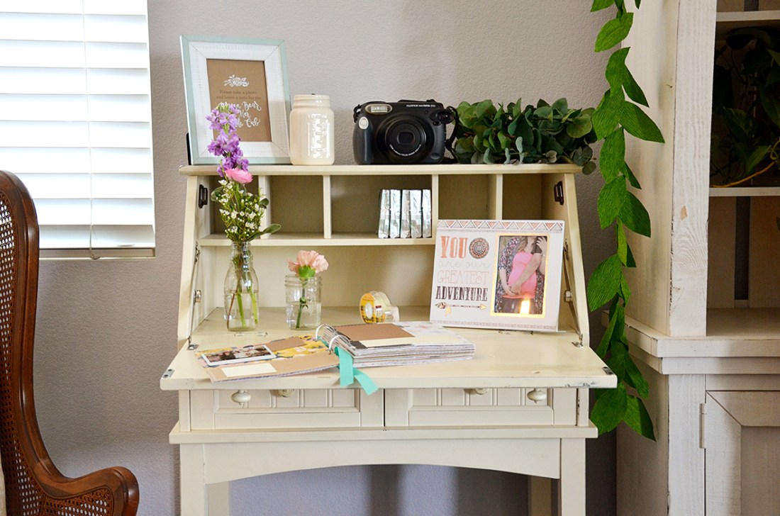 Shabby Chic Tribal Baby Shower Guest Book table