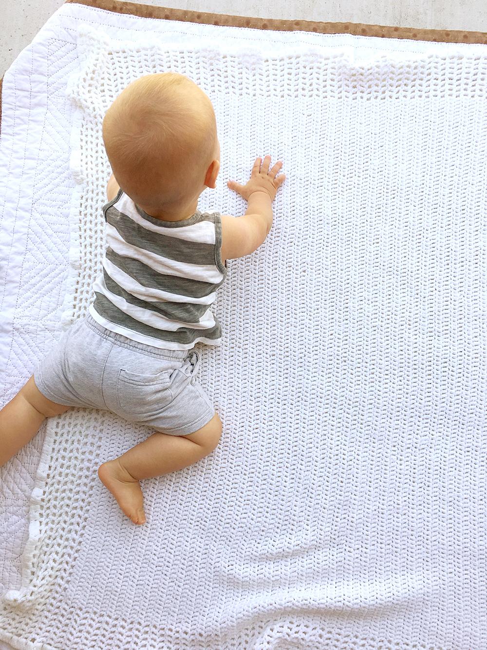 Isaiah 12 Month Photo Crawling