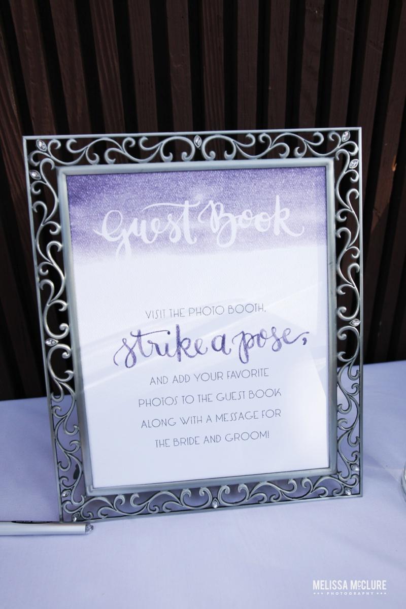 Sam Allen Creates Watercolor Wedding Reception Guest Book Sign - Photo by Melissa McClure