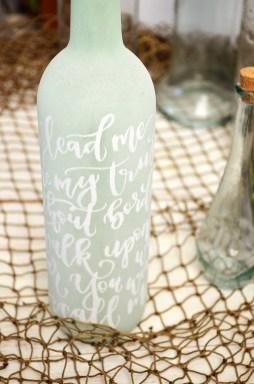 Sam Allen Creates - Isaiah's First Birthday - Under the Sea Birthday Decorations - Handlettered Bottle - Oceans lyrics 3