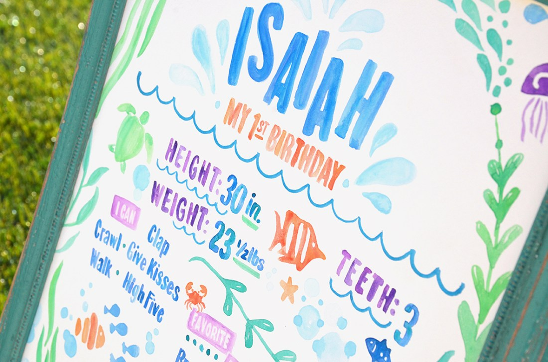 Sam Allen Creates - Isaiah's First Birthday - Under the Sea Birthday One Year Poster 11