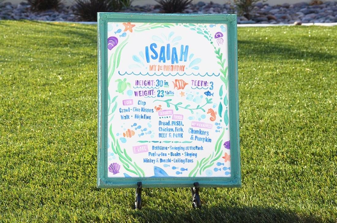 Sam Allen Creates - Isaiah's First Birthday - Under the Sea Birthday One Year Poster 6