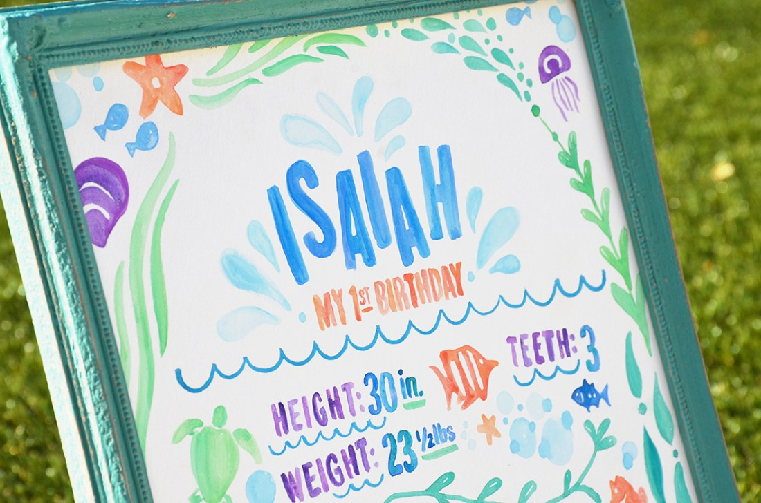 Sam Allen Creates - Isaiah's First Birthday - Under the Sea Birthday One Year Poster 7