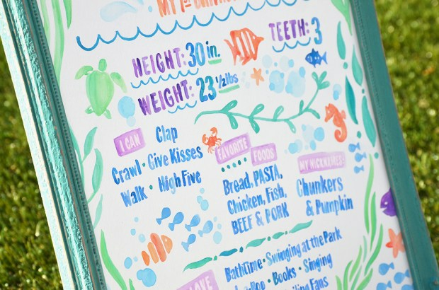 Sam Allen Creates - Isaiah's First Birthday - Under the Sea Birthday One Year Poster 8