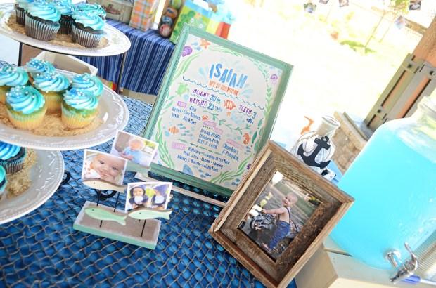 Sam Allen Creates - Isaiah's First Birthday - Under the Sea Birthday - One Year Poster