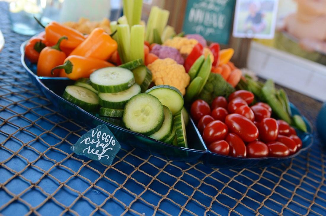 Sam Allen Creates - Isaiah's First Birthday - Under the Sea Birthday Party Sea Glass Food Placecard