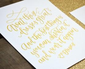 Sam Allen Creates 27 Dresses Handwritten Movie Quote