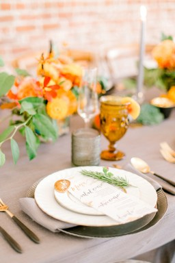Sam Allen Creates - Estate on Second Wedding Styled Shoot, by Harper Grace Photography 33 agate placecards and dinner menus