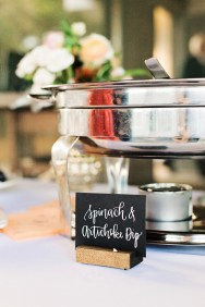 Sam Allen Creates Wedding Reception Dinner Placecards by Kailtin Scott Photography