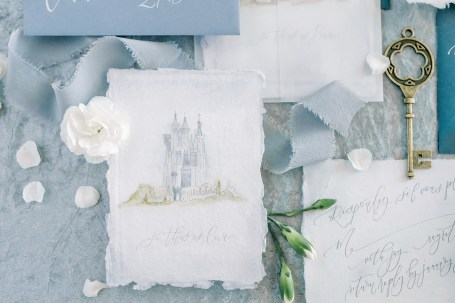 Sam Allen Creates - Disney Inspired Cinderella Wedding Invitation - Cinderella Castle by Mary Blair