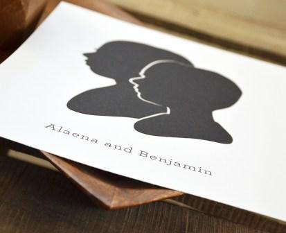 Sam Allen Creates - Handdrawn Siblings Papercut Silhouettes - Alaena Benjamin