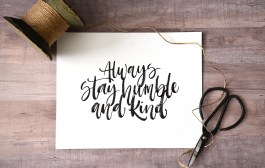 Sam Allen Creates - Always Stay Humble and Kind Watercolor painting