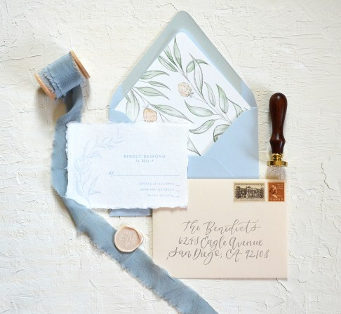 Sam Allen Creates - Handmade Paper Fine Art Wedding Invitation 7