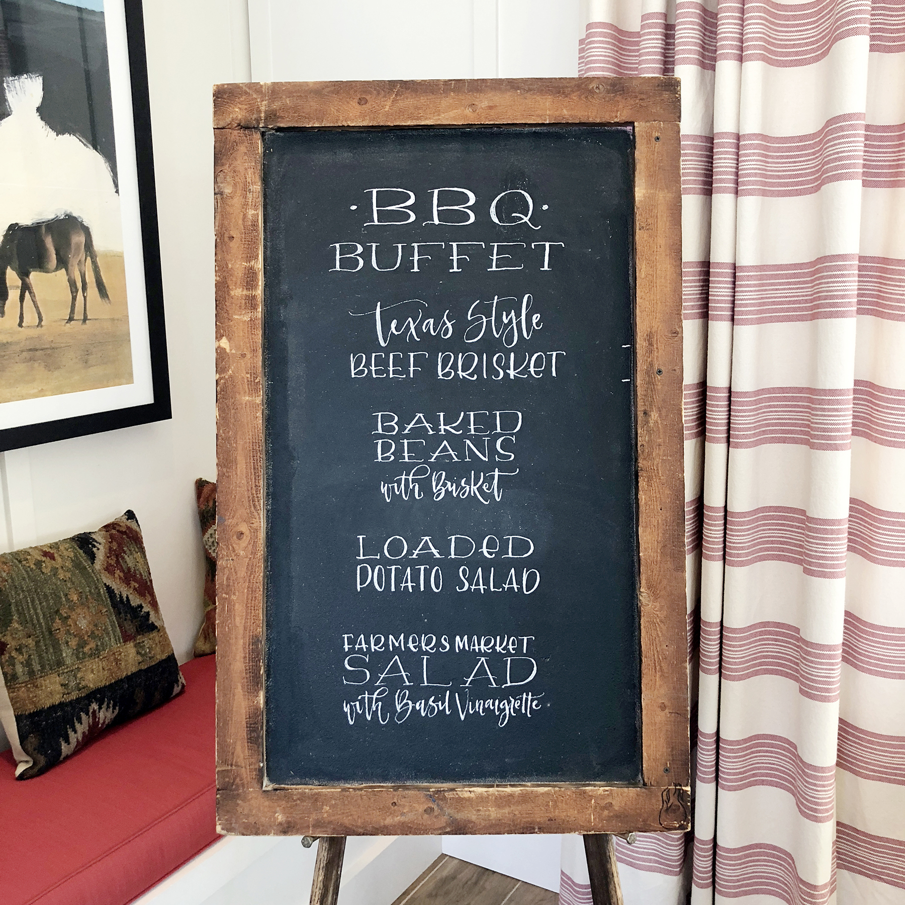 Sam Allen Creates – Birthday Party Menu Chalkboard Lettering