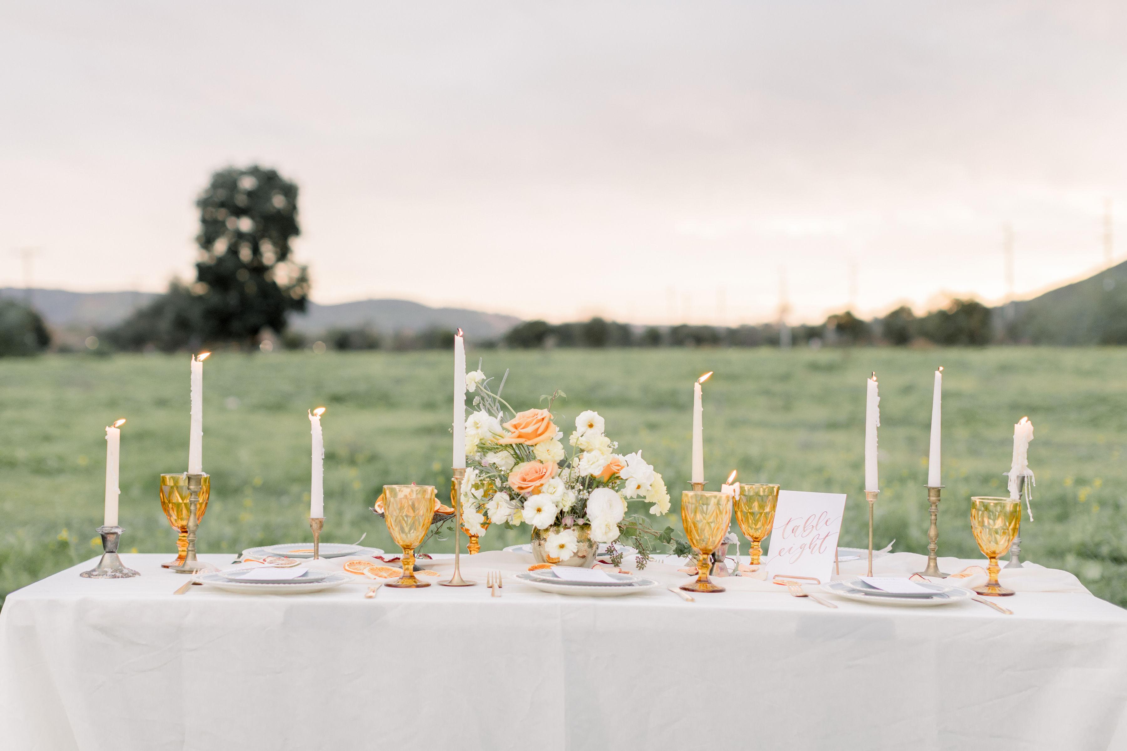 StephanieWeberPhotography-Brown Wedding Reception Tablescape
