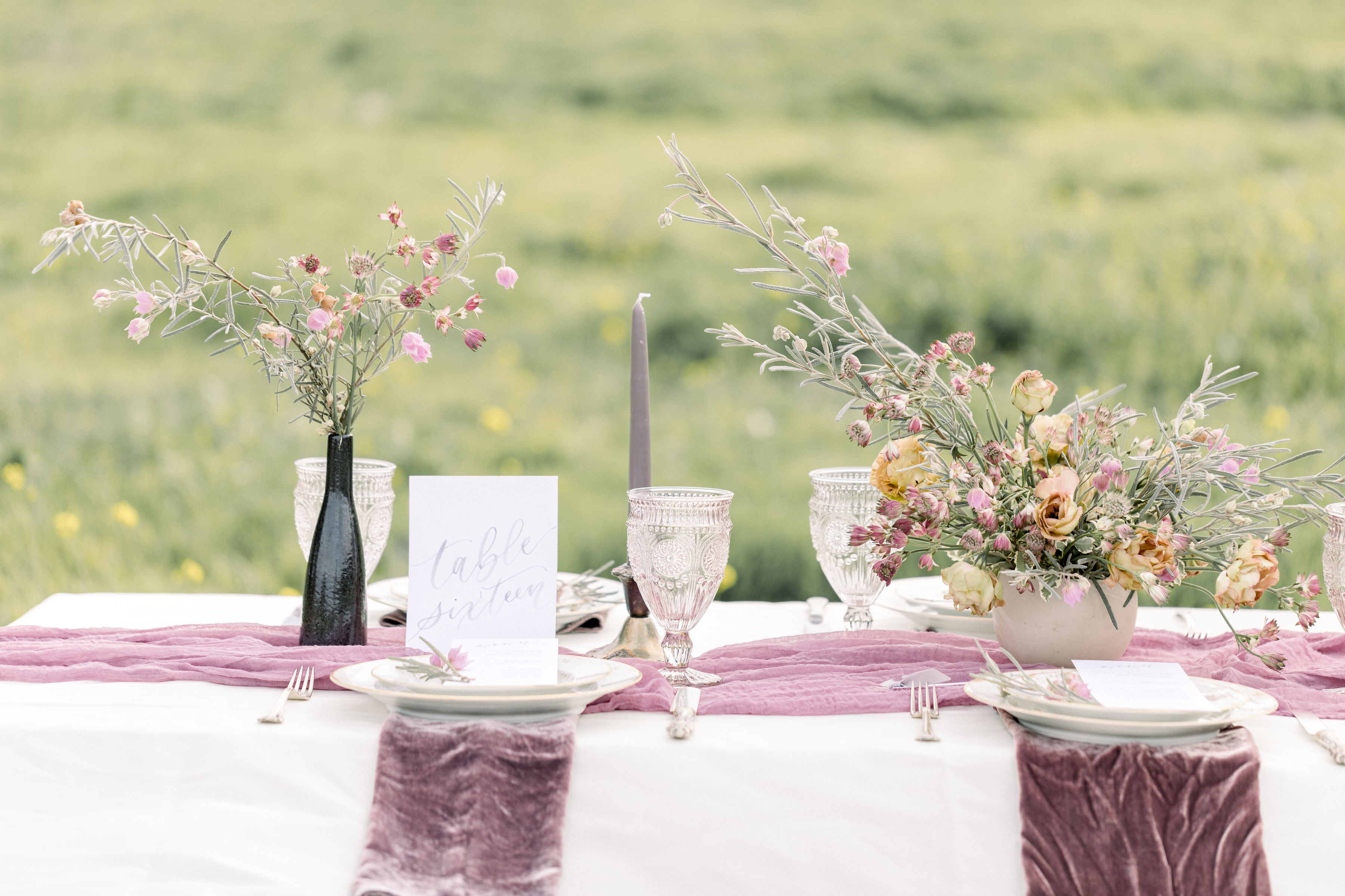 StephanieWeberPhotography-Gray and Purple Tablescape