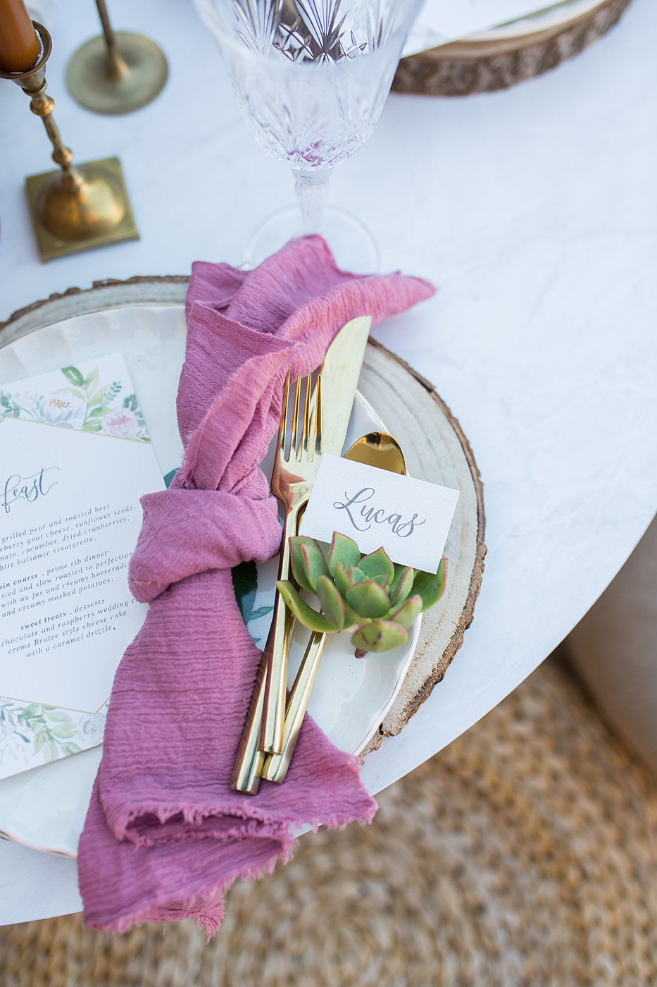 CarstenTicePhotography_Lot8-Boho-Wedding-Reception-Placecard-by-Sam-Allen-Creates-in-Succulent