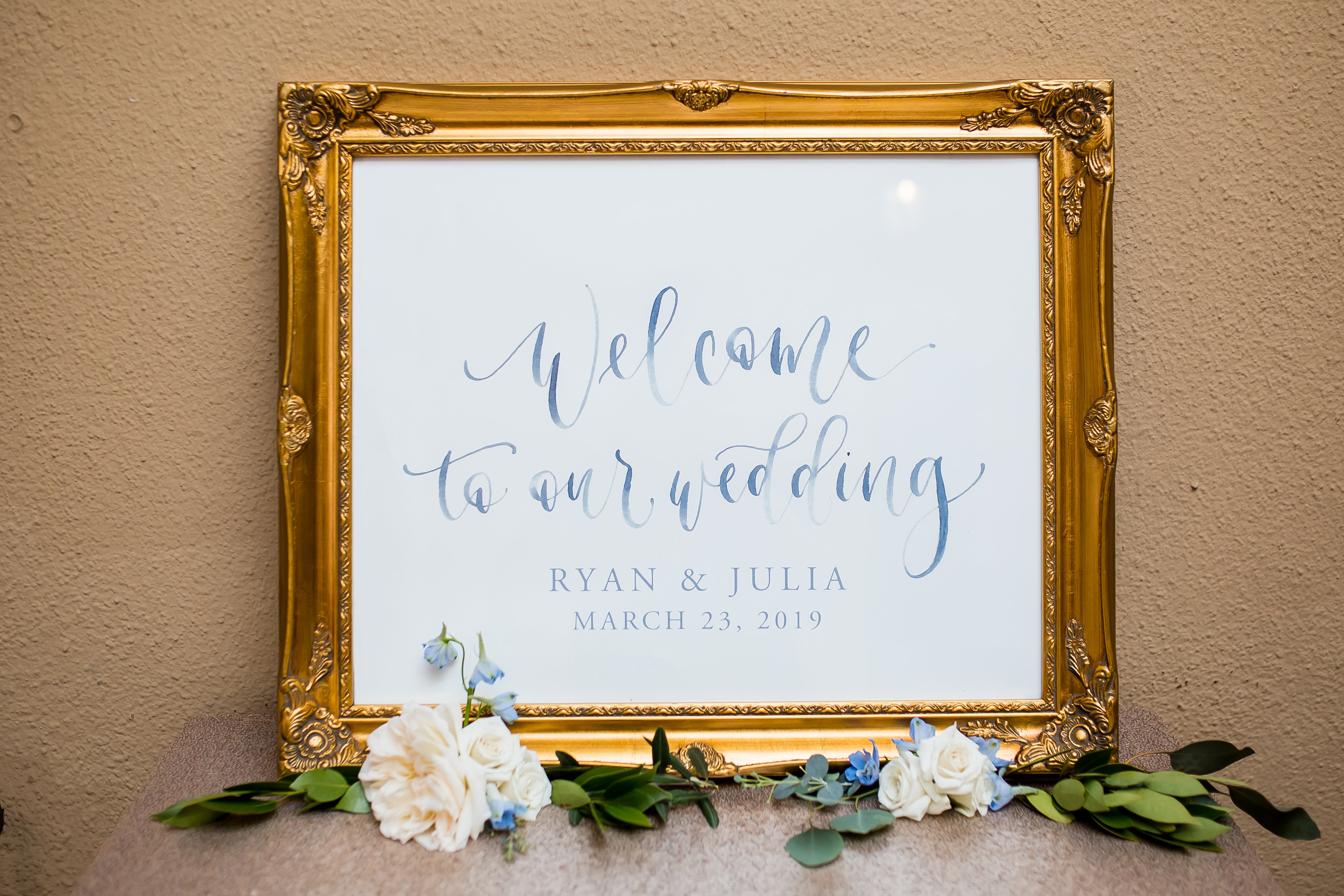 Sam-Allen-Creates-Watercolor-Wedding-Welcome-Sign-Framed-Poster-Michelle-Preau-Photography-1