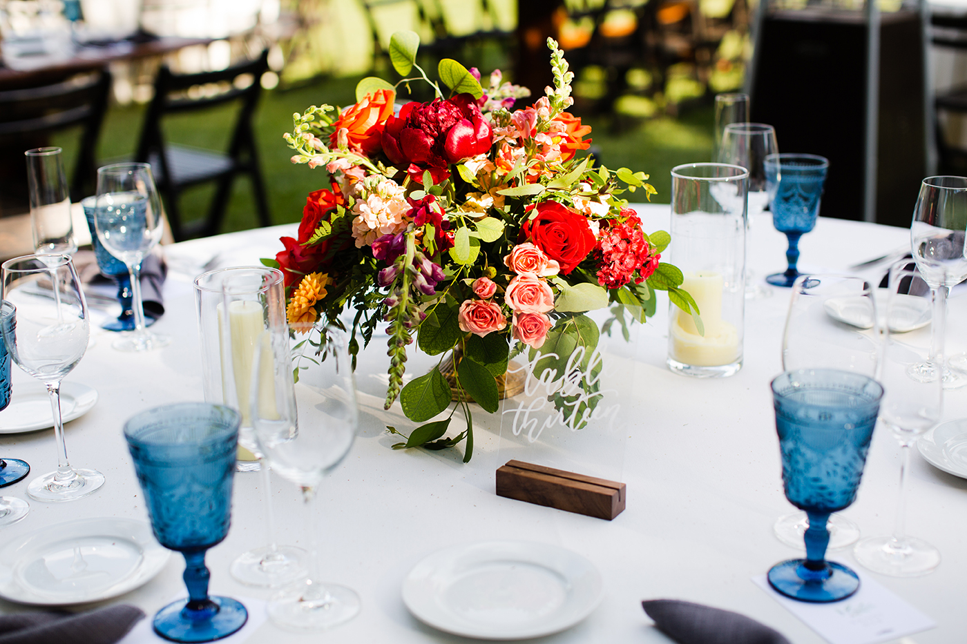 Acrylic Table Numbers by Sam Allen Creates brittanytaylorphoto