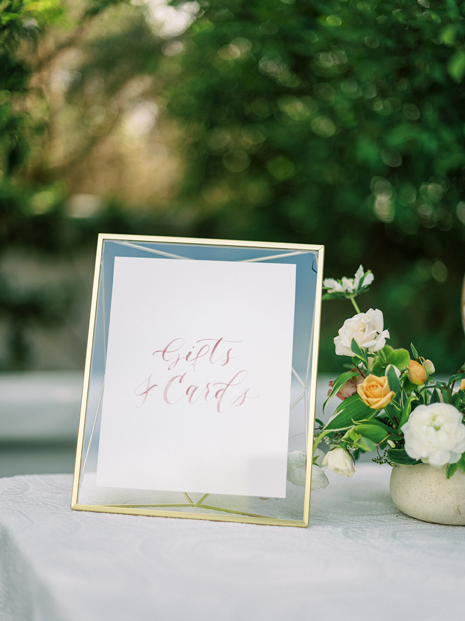 Courtney and John Travel Themed Wedding – Daniel Kim Photo 8 – Cards and Gifts Sign by Sam Allen Creates