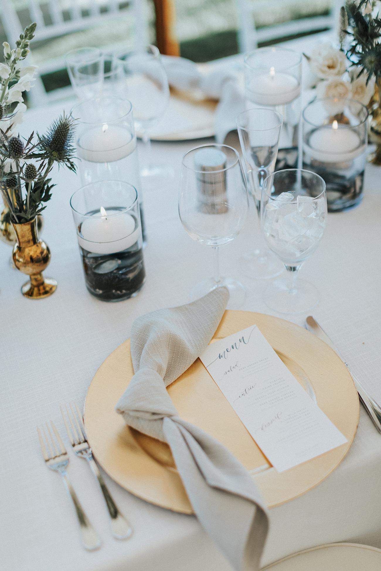 Sam Allen Creates – Watercolor Wedding Reception Menu
