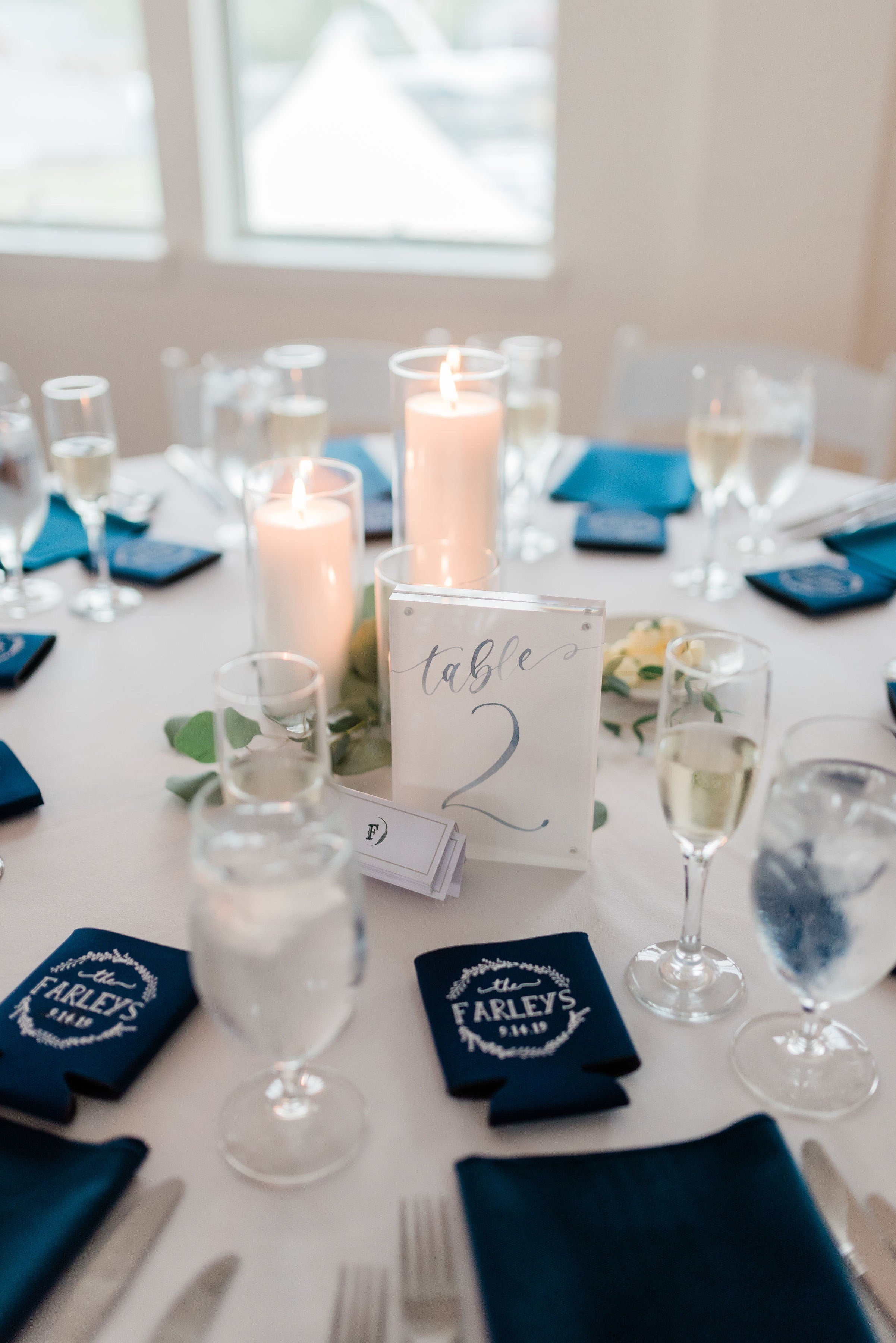 Sam Allen Creates – Watercolor Calligraphy Wedding Reception Table Numbers- Morgan O'Neil Photography