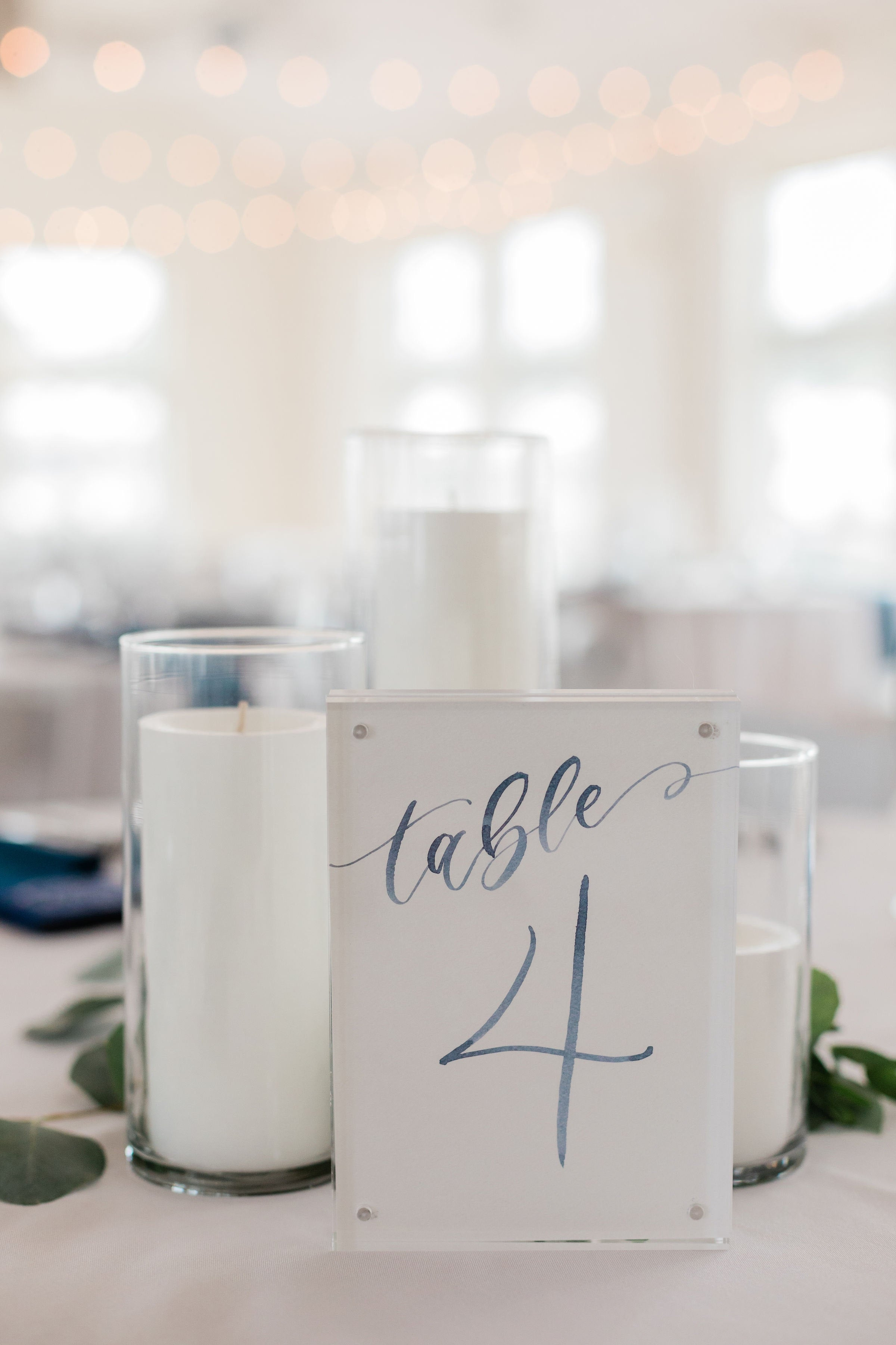 Sam Allen Creates – Watercolor Calligraphy Wedding Table Numbers – Morgan O'Neil Photography