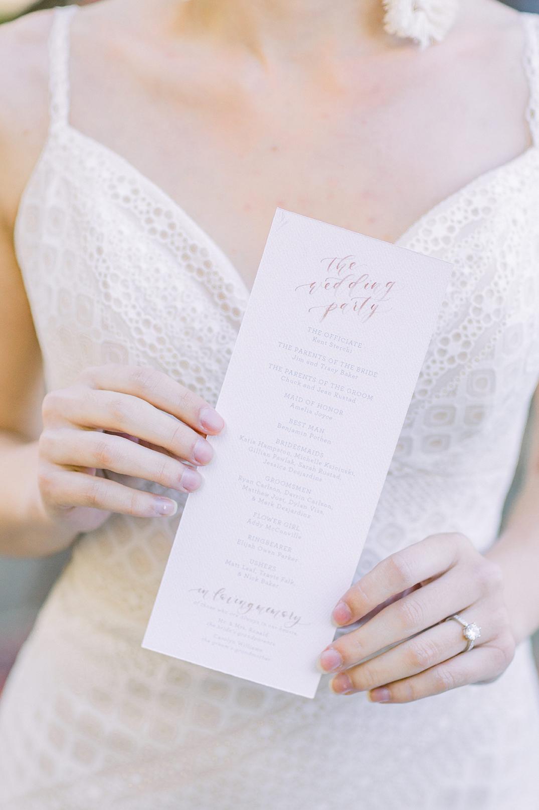 SWP-TheGreenhouse Boho Wedding Inspiration-154SWP Wedding Ceremony Program