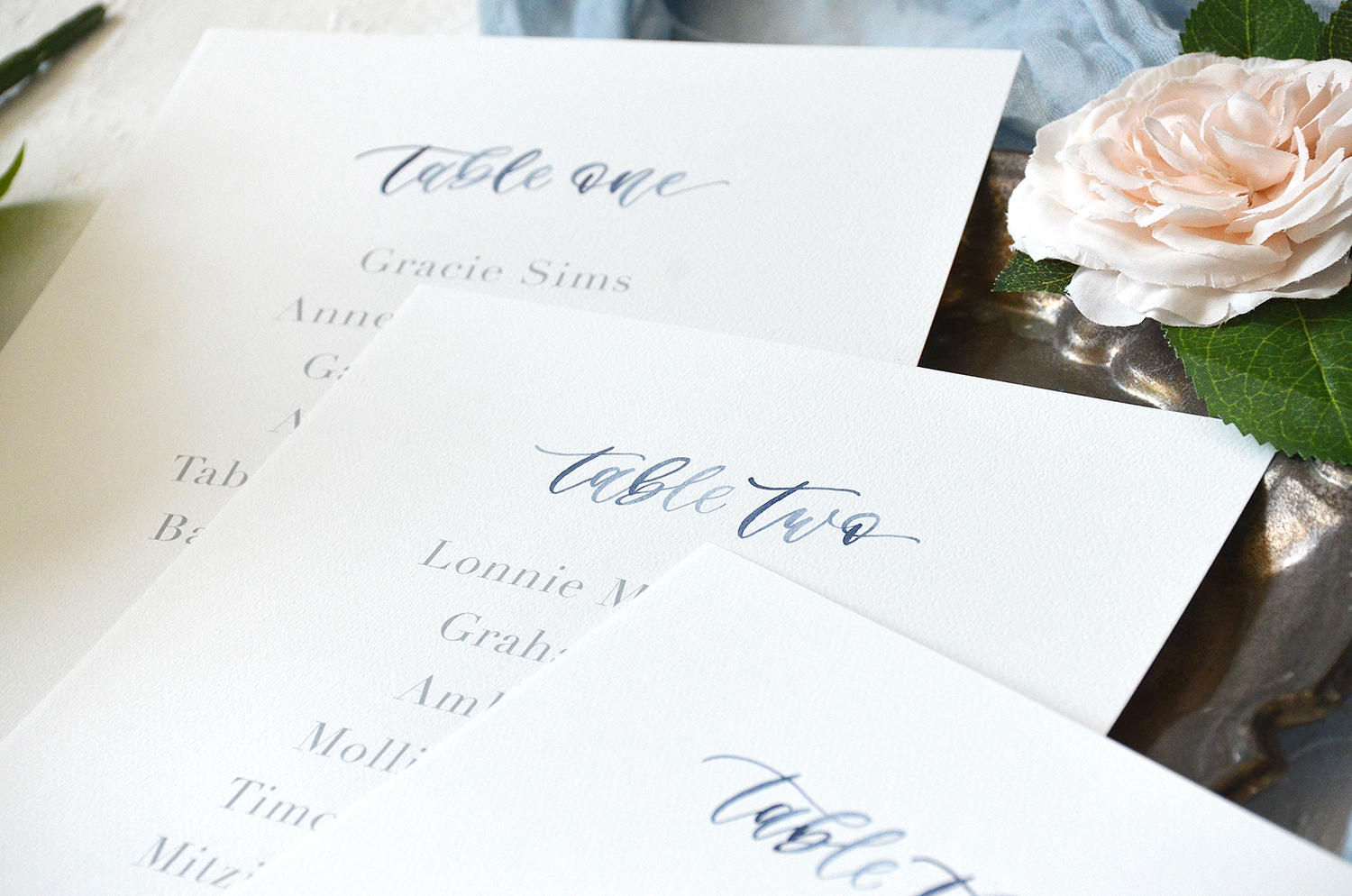 Watercolor Table Number Lists by YourNewFriendSam on Etsy detail