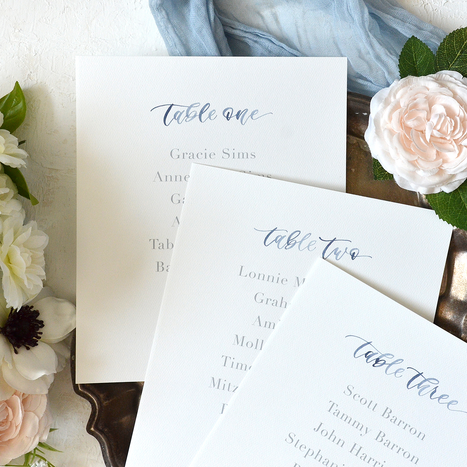 Watercolor Table Number Lists by YourNewFriendSam on Etsy