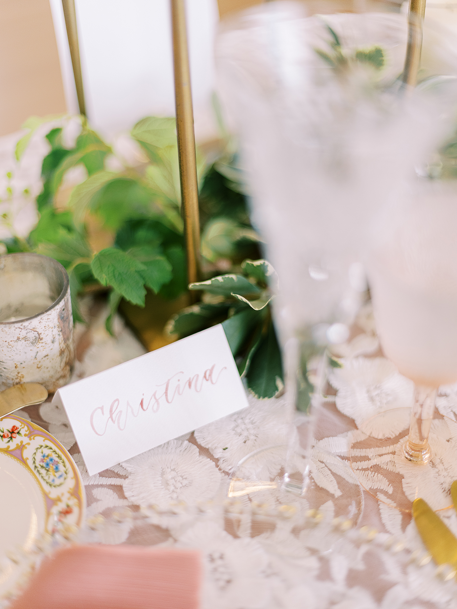 Sam Allen Creates – Watercolor Tent Card for Wedding Reception placecard – Clary Pfeiffer Photography detail