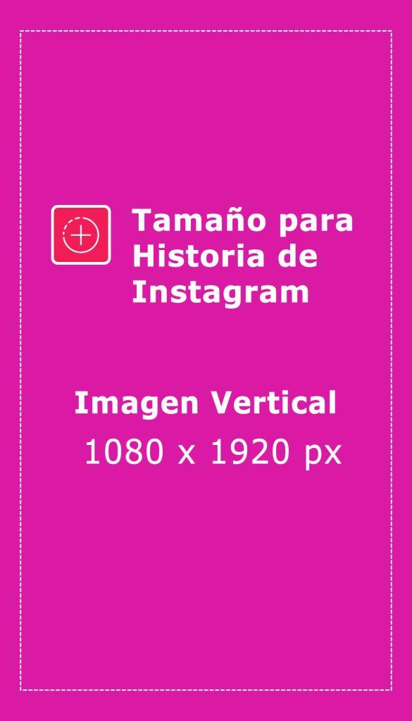 tamaño de imagenes historias de instagram