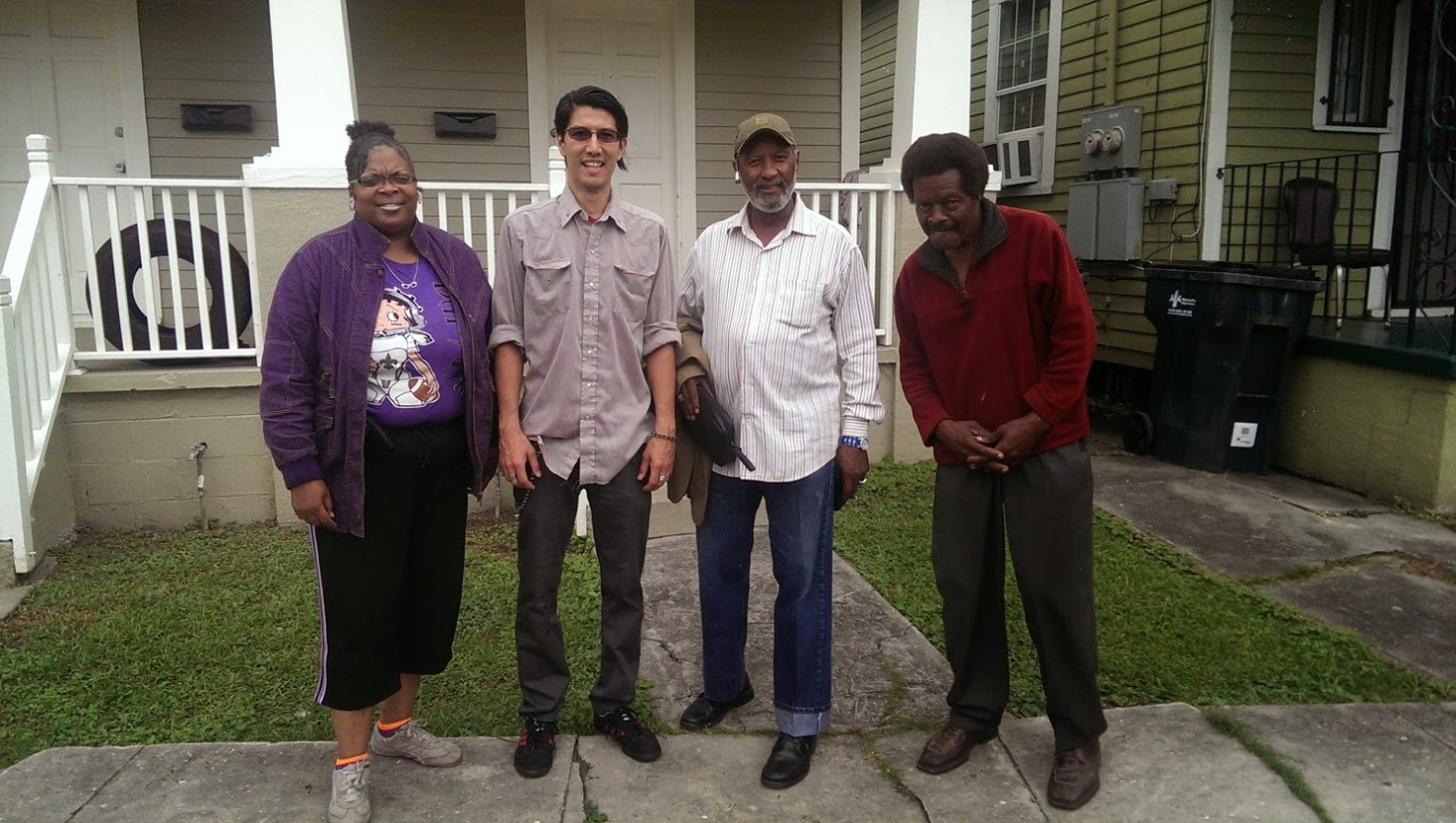 Pam Collins, Anthony DelRosario, Tom White, and Lester Carey