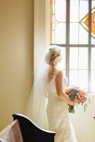 Bride at Church, wedding in louisville