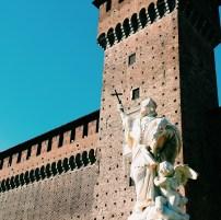 Exterior of Sforzesco castle