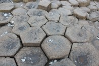 The pillars that make up Giant's Causeway
