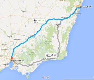 Sydney to Melbourne