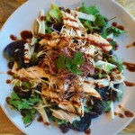 healthy easy bbq salad onions fried