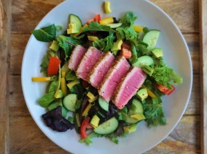 healthy easy seared ahi salad lean green