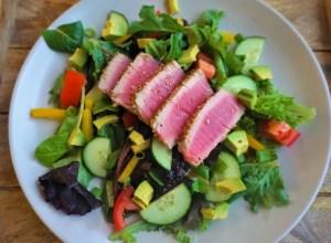healthy easy seared ahi salad lean green