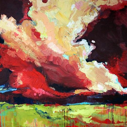 """Reclaimed Terrain Acrylic on Canvas 48"""" x 48"""" 4800.00"""