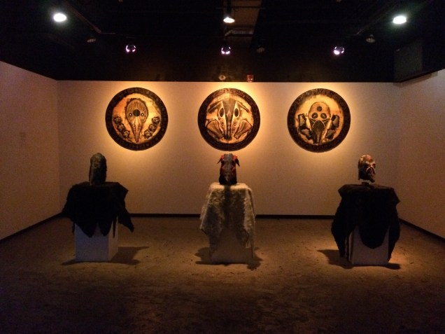 The Display of the three masks