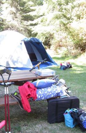 Tenting on Texada Island, BC