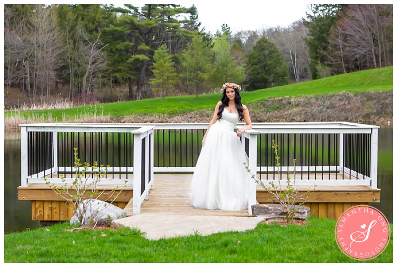 Romantic Trillium Trails Wedding Photos  Blush Pink  Gold