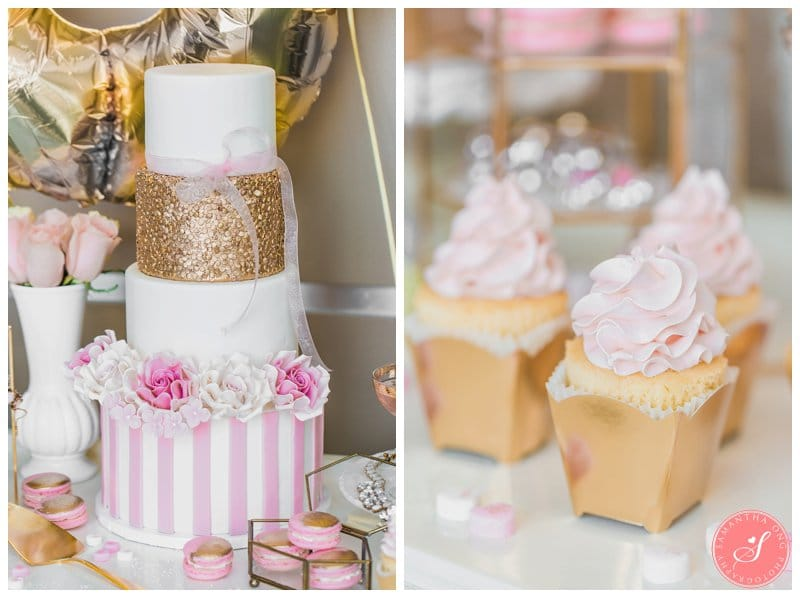 Valentines Day Pink Dessert Table Photos Gold Romantic