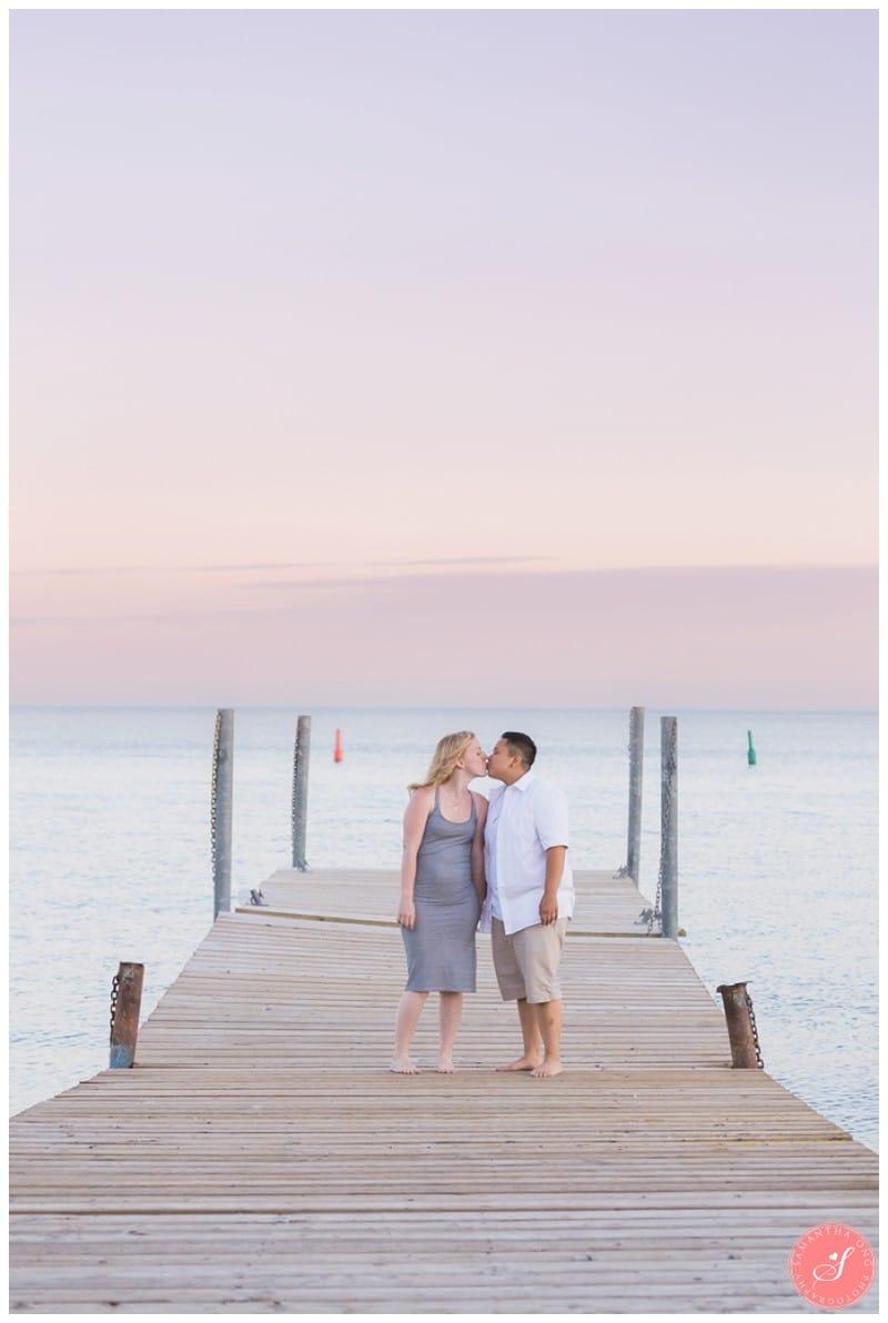Toronto Beach Engagement Photos Romantic Sunset Timeless