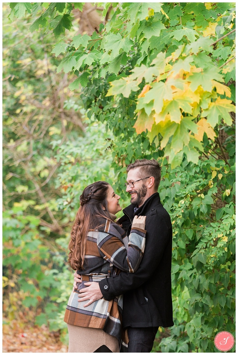 Beautiful Unionville Markham Fall Engagement Photos